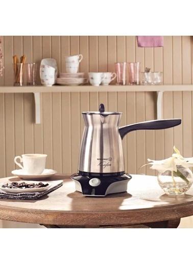 Korkmaz Kafein Satin Inox/Siyah Elektrikli Cezve Makinesi Gri